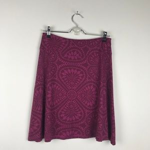Patagonia Mandala Purple Stretch Midi Skirt S